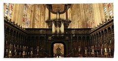 Organ And Choir - King's College Chapel Beach Sheet