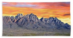 Organ Mountain Sunrise Most Viewed  Beach Towel by Jack Pumphrey