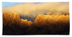 Organ Mountains Symphony Of Light Beach Towel by Bob Christopher