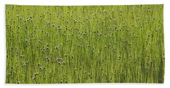 Organic Green Grass Backround Beach Towel