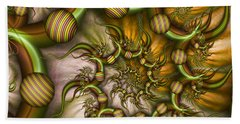 Organic Playground Beach Towel by Gabiw Art