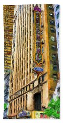 Oriental Theater Of Chicago Beach Towel by Ely Arsha