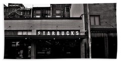Original Starbucks Black And White Beach Towel