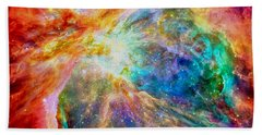 Orions Heart-where The Stars Are Born Beach Towel