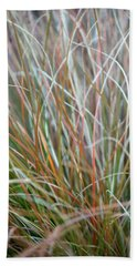 Ornamental Grass Abstract Beach Towel by E Faithe Lester