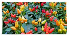 Ornamental Peppers Beach Towel