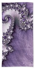 Ornate Lavender Fractal Abstract One  Beach Sheet by Heidi Smith