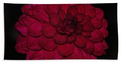 Ornate Red Dahlia Beach Towel