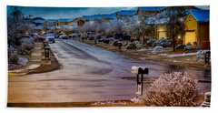 Oro Valley Winter No.54 Beach Towel by Mark Myhaver