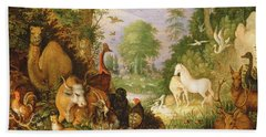 Orpheus Charming The Animals, C.1618 Beach Towel