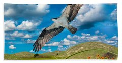 Osprey On Shackleford Banks Beach Towel