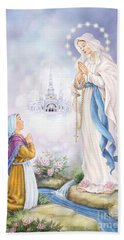 Our Lady Of Lourdes Beach Towel