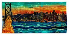 Our Lady Of The Bay Beach Towel