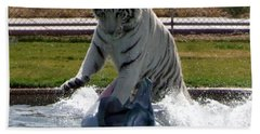 Out Of Africa Tiger Splash 1 Beach Towel