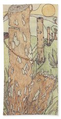 Beach Towel featuring the drawing Outdoors by Jason Girard