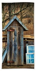 Outhouse - 5 Beach Towel by Paul Ward