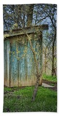 Outhouse In Spring Beach Towel