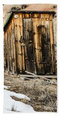 Beach Towel featuring the photograph Outhouse With Electricity by Sue Smith