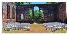 Outside Wedding Beach Sheet by Cynthia Guinn