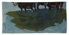 Outstanding In Their Field Beach Towel by Phil Chadwick