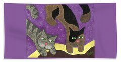Over Cover Cats Beach Towel