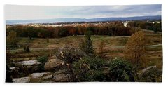 Over The Battle Field Of Gettysburg Beach Towel by Amazing Photographs AKA Christian Wilson