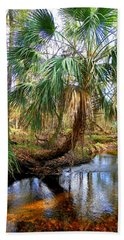 Over The Creek Beach Towel