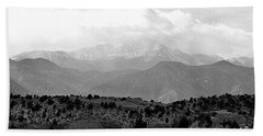 Over The Hills To Pikes Peak Beach Towel by Clarice  Lakota