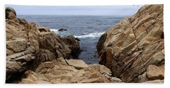 Overcast Day At Pebble Beach Beach Towel