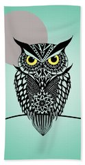Owl 5 Beach Towel by Mark Ashkenazi
