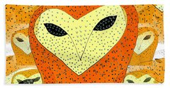 owl Beach Sheet by Barbara Moignard