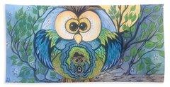 Owl Take Care Of You Beach Towel