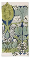 Owls, 1913 Beach Towel