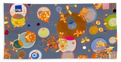 Beach Towel featuring the mixed media Owls Hangin Around by Beth Saffer