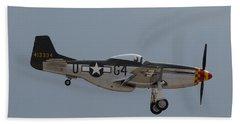 P-51 Landing Configuration Beach Towel
