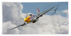P51 Mustang And Me 262 Beach Sheet