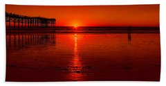 Pacific Beach Sunset Beach Towel by Tammy Espino