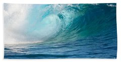 Pacific Big Wave Crashing Beach Towel by IPics Photography