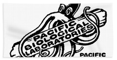 Pacific Biological Laboratories Of Pacific Grove Circa 1930 Beach Towel by California Views Mr Pat Hathaway Archives