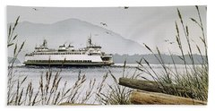 Pacific Northwest Ferry Beach Sheet by James Williamson