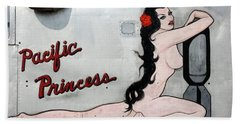 Pacific Princess Beach Towel by Kathy Barney