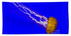 Beach Towel featuring the photograph Pacific Sea Nettle by Nick  Boren