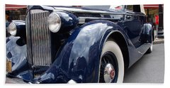 Beach Sheet featuring the photograph Packard 1207 Convertible 1935 by John Schneider