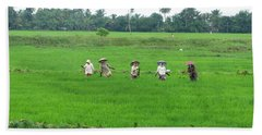 Paddy Field Workers Beach Towel