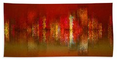 Paint The Town Red Beach Towel by Stuart Turnbull