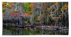 Painted Bayou Beach Towel by Lana Trussell