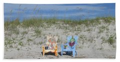 Painted Beach Chairs Beach Towel