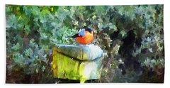 Painted Bullfinch S1 Beach Sheet
