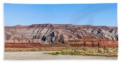 Beach Towel featuring the photograph Painted Desert Mountain by Daniel Hebard