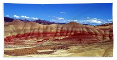 Beach Towel featuring the photograph Painted Hills by Chalet Roome-Rigdon